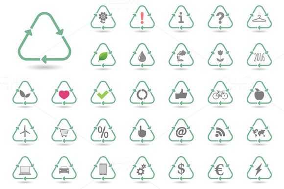 Recycle Icon  Set by Blablo on Creative Market