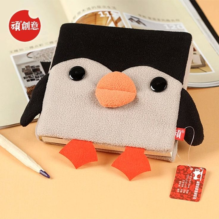 2015 Cute Kawaii Cartoon Penguin Velveteen notebook creative trends Notebook Diary Planner Notepad for kids Gift DIY Stationery