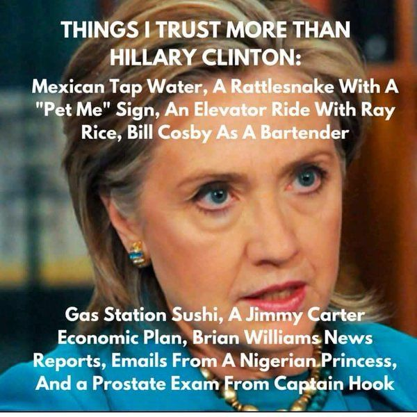 Things I trust more that Hillary - Conceal & Carry Network Forum