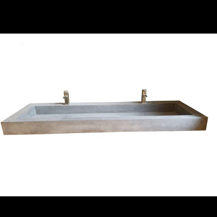 Farmhouse rectangular trough bathroom sink sink