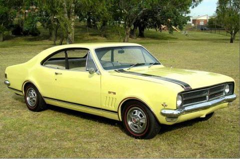 1968 Holden HK Monaro GTS 327-V8 Coupe. This original ducoe colour is Warwick Yellow.