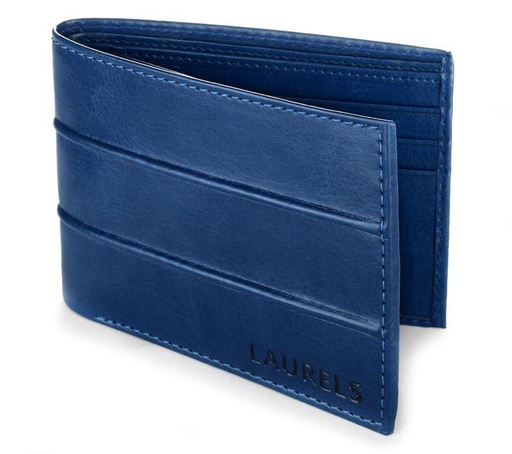 Blue stylish laurels branded wallet  http://fashionbebo.com/best-10-stylish-branded-wallets-men-rs-500/