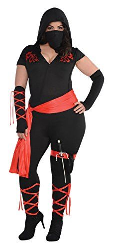 Fashion Bug Women Plus Size Costumes: Dragon Fighter Ninja Costume - Plus Size - Dress Size www.fashionbug.us #PlusSize #FashionBug #Costumes