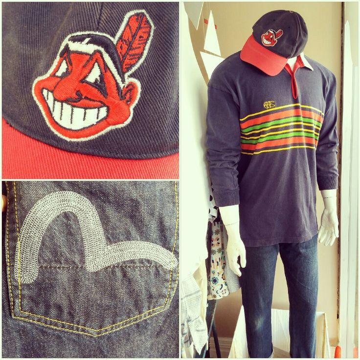 Prince of Bel Air inspired: vintage cap, jumper and jeans #princeofbelair #Belair #cap #vintagecap #vintage #vintagejumper #90s #nineties #hip #hiphopandhappening #stripes #evisu #evisujeans #embroidery #pocketembroidery #denim #jumper
