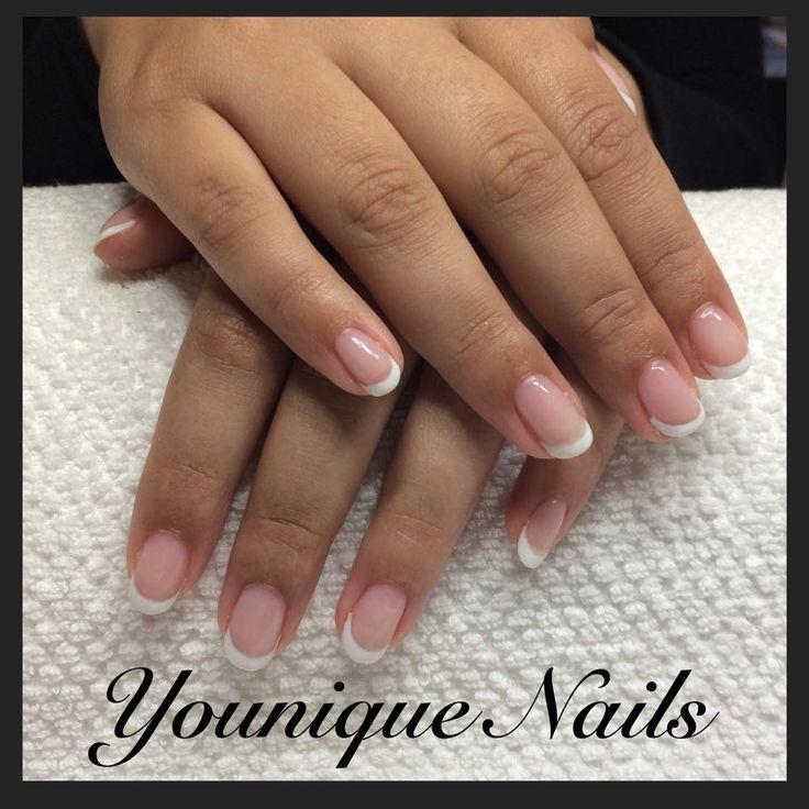cnd brisa forlængelse franske negle, french nails