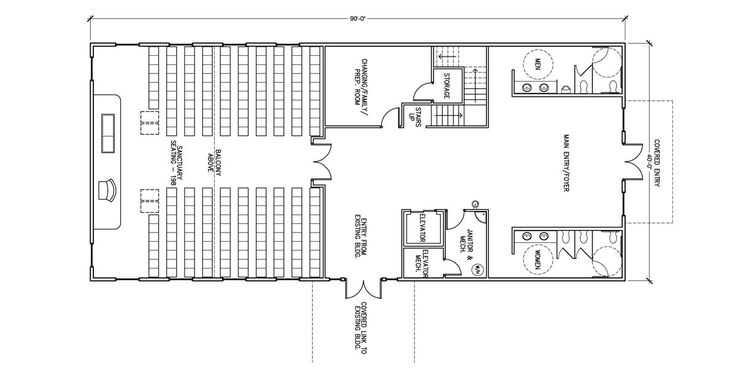 Commercial buildings floor plans house plans home plans for Funeral home blueprints