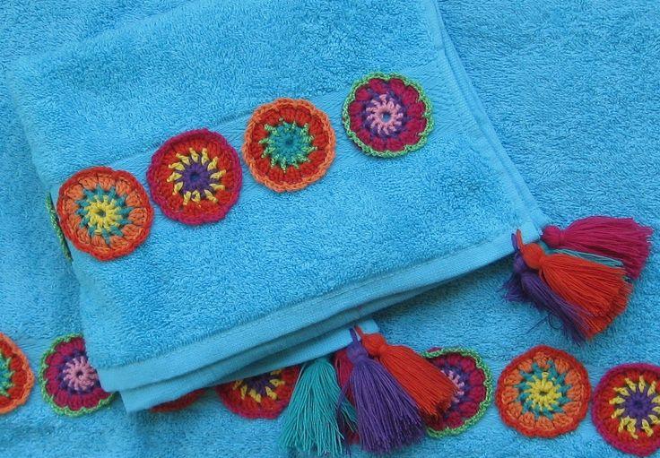 Toalhas turcas e crochet