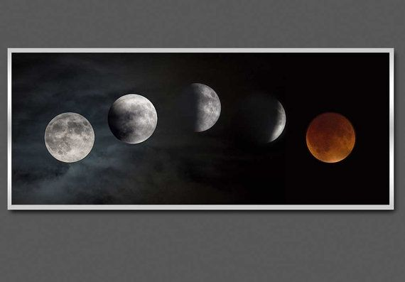 Supermoon Lunar Eclipse, NASA Space Images Science Modern Art Astronomy large poster print photography