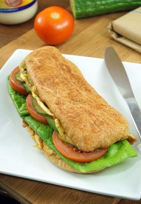 A delicious Indian/Asian inspired sandwich, made #keto.