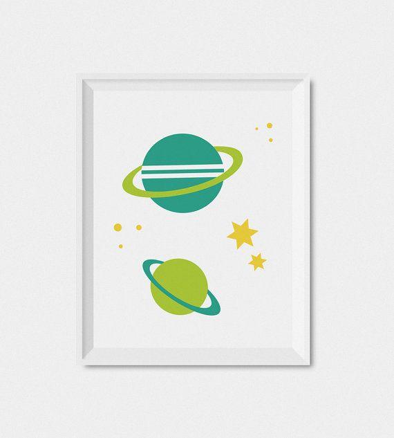 Outer Space Kids kunst wordt afgedrukt ruimte door LimitationFree