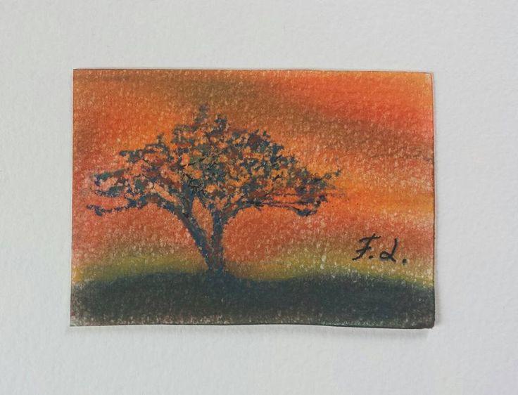 Aceo n. 23 - paesaggio, by Francesca Licchelli Arte, 10,00 € su misshobby.com