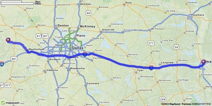 Driving Directions from 521 Railroad Ave, Graford, Texas 76449 to Horseshoe Bossier Casino & Hotel in Bossier City, Louisiana 71111 | MapQuest