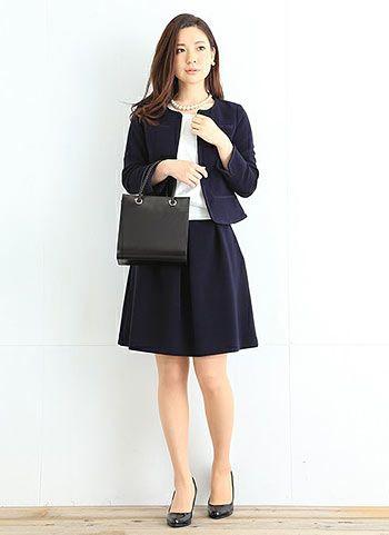 【卒園式・入学式】紺ジャケット+紺フレアスカートのコーデ | 花子