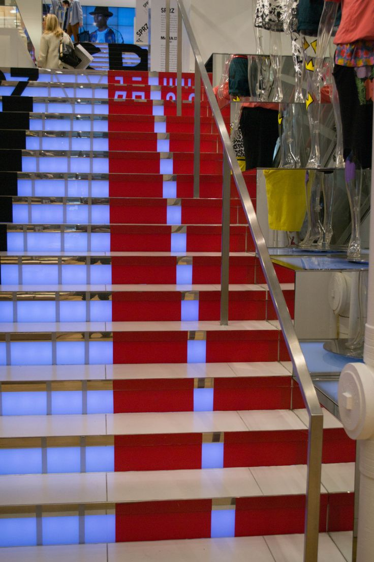 April 22 - In A Store. I was introduced to this store called ' uniqlo ' and it was 3 storeys high!! They have amazing affordable clothing but the way their store is designed just blew me away. The image here is just the staircase leading up you to the next level.. you can just imagine what the rest of the store looked like!