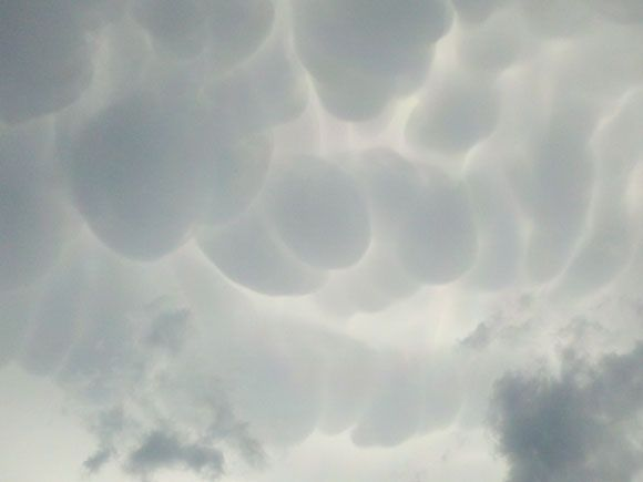 """""""Clouds after the storms came through this afternoon in Westfield.Interesting Places"""