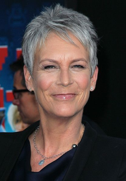Jamie Lee Curtis ~ Her short and spiky hair is easy to manage but is still stylish at the same time!