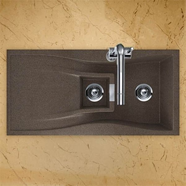 Houzer Cristadur Undermount/ Drop In Bronze Granite Kitchen Sink   Overstock™  Shopping