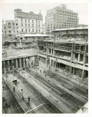 Construcción banco de la república, antiguo hotel Granada