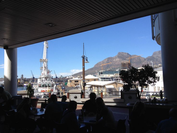 Outstanding view from Mugs&Bean in Water Front Cape Town
