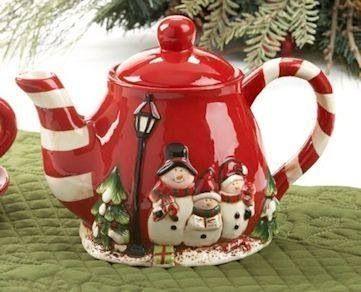 Christmas Snowman Tea Pot Tea Pots Christmas Tea