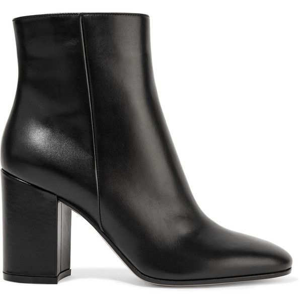 Gianvito Rossi's black ankle boots are a must-have this season. Crafted from supple leather, they're cut to hit just above the ankle and set on a block heel th…