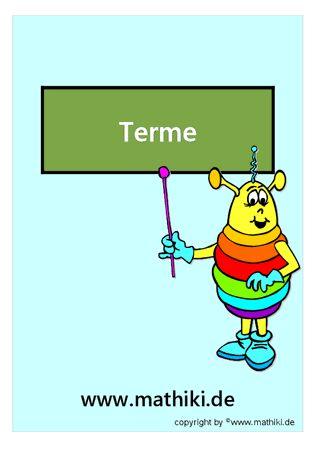 19 best Terme images on Pinterest | Arbeitsblätter, Mathe aufgaben ...