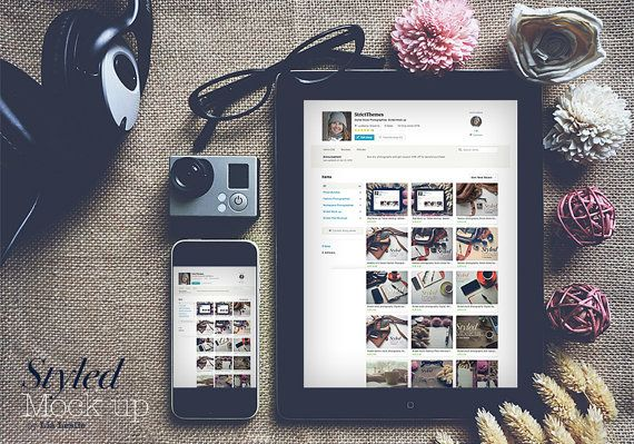 Styled iPhone & iPad mockup to showcase a startup от StrictThemes