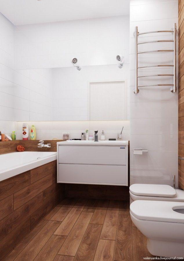 Дизайн ванной плитка дерево