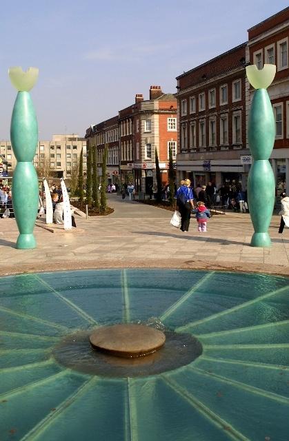 Warrington, England - town centre