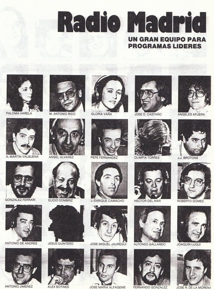LaRADIOenTUITER   El equipo de Radio Madrid (Cadena Ser) en los años 80.