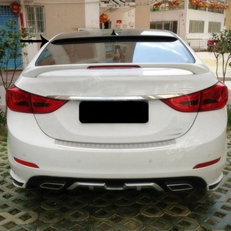 (59.99$)  Buy here  - Car-Styling Without Paint ABS Material Roof Spoiler For Hyundai Elantra 2012 2013 2014 2015 Auto Decoration Car Accessories