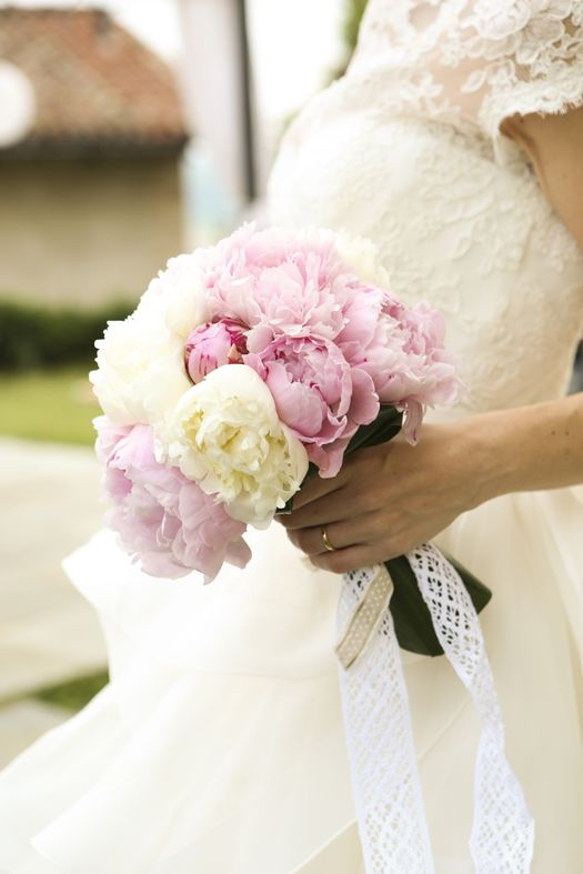 white and rose peonies