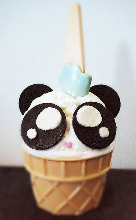 Kawaii panda ice-cream cake