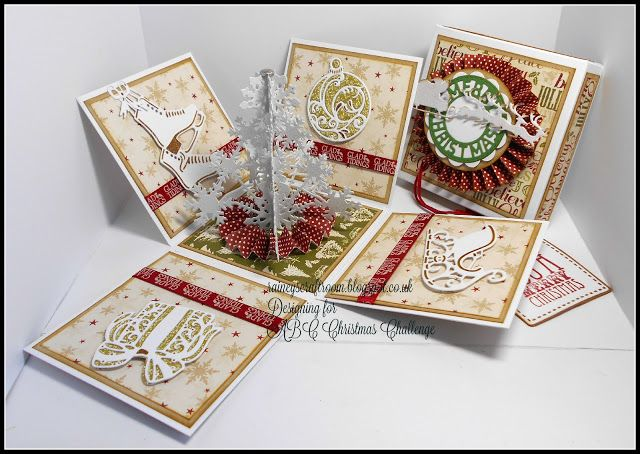 "Rainey's Craft Room: ABC Christmas Challenge 'X' is for 4""x 4"" Square Card or Box"