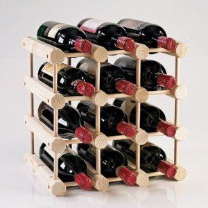 Modular Bottle Wine Rack  Natural