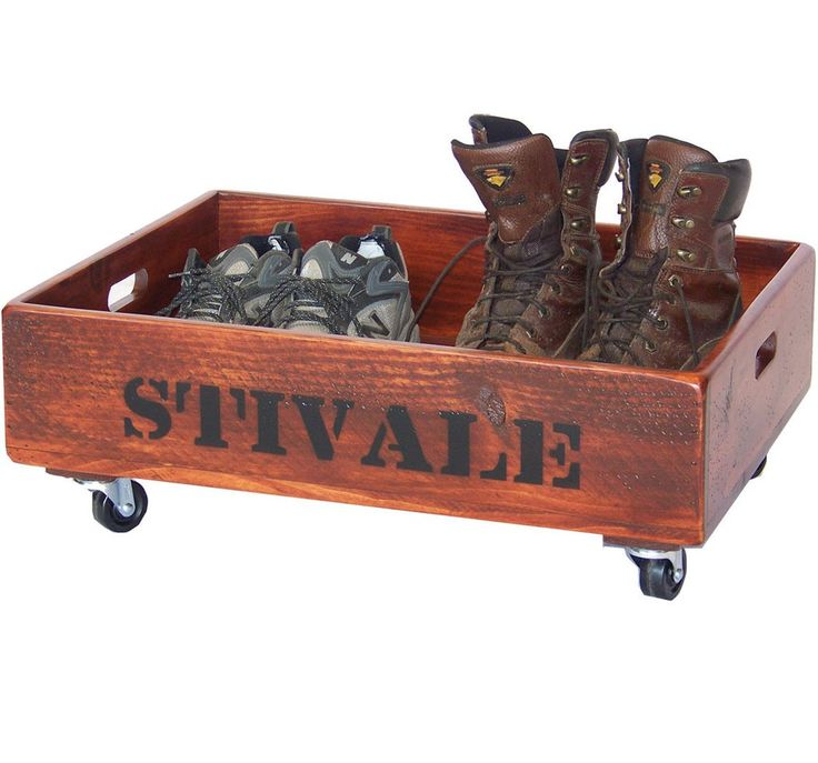 Reclaimed Wood Boot Caddy