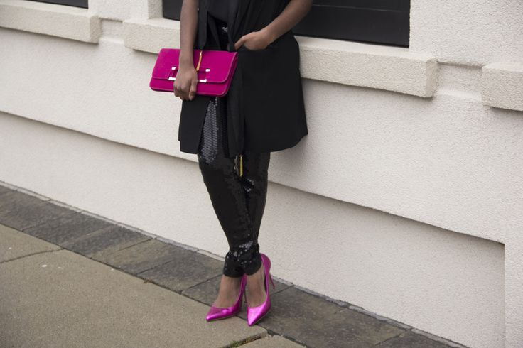 sincerely miss J: Bling: Black Sequin Leggings
