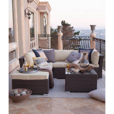 Best Patio Garden Beige Cushions Outdoor Lounge Furniture 400 x 300
