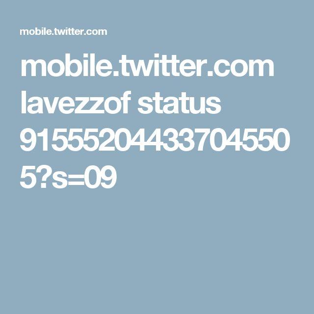 mobile.twitter.com lavezzof status 915552044337045505?s=09