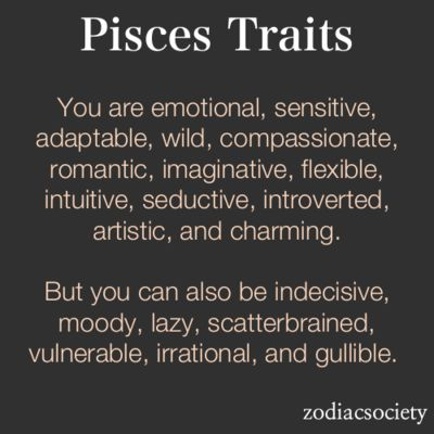 Pisces Ok now I understand why I never can find my keys... It's because I was born in march! Scatterbrained not my fault!!:)