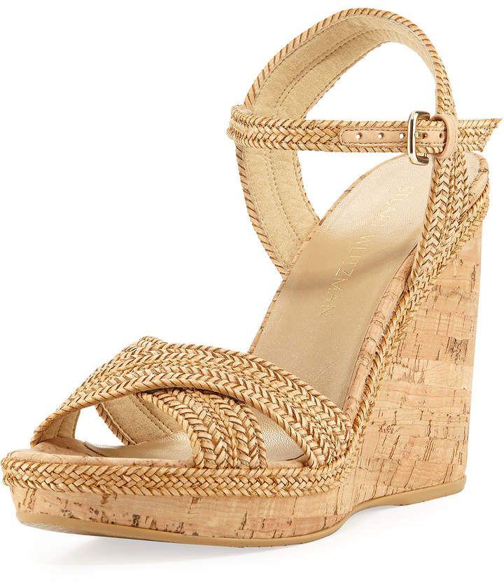 092dac5a686 Pixie Woven Cork Wedge Sandal, Camel #heel#wedge#cork   Black Men's ...