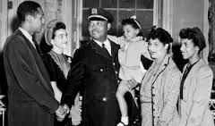Lt. Samuel J. Battle and his family.  Lt. Battle was the first African-American police officer in the New York Police Department.  He was born on January 16, 1883, in New Bern, North Carolina.