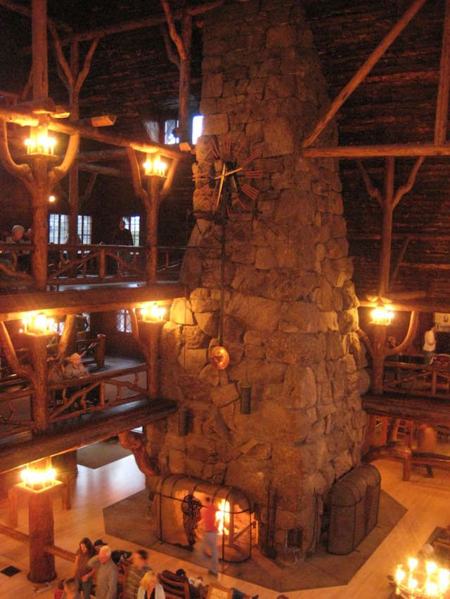 The Old Faithful Inn in Yellowstone NP - one of the most popular forms of lodging in the area, and with good reason!