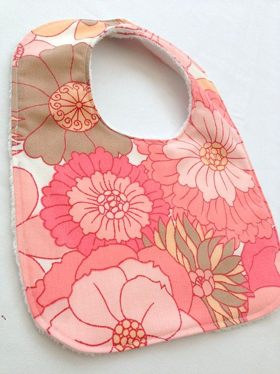 Retro baby girls bib in vintage fabric by ThisisLullaby, £8.00