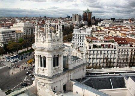 Horarios de visita y precios entradas para subir a la terraza mirador del Palacio de Cibeles en la plaza de Cibeles de Madrid