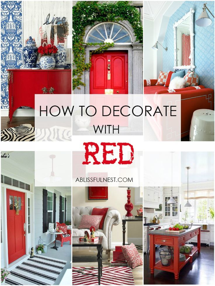 Do you love the color red but don t know how to add it for Home decor 2 love