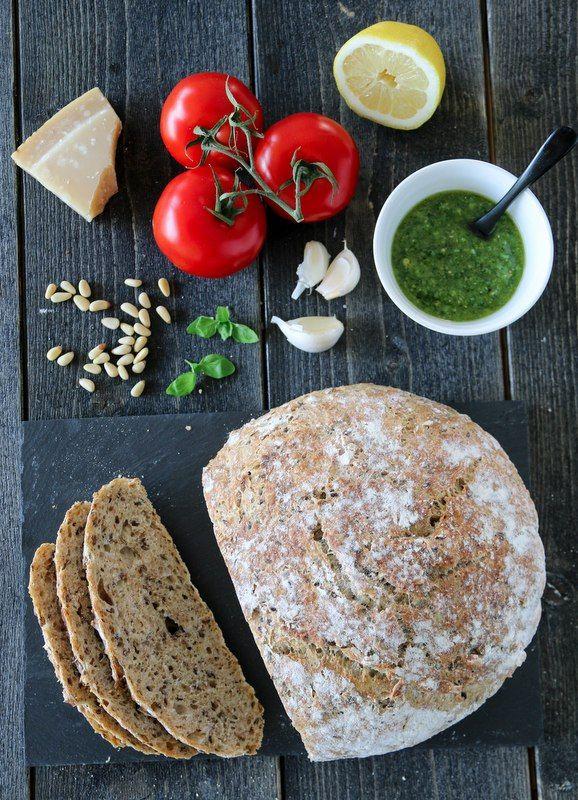 Eltefritt landbrød med havre og linfrø