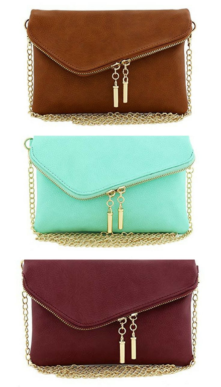 Envelope Wrist Clutch Crossbody Purse  Comes in every color