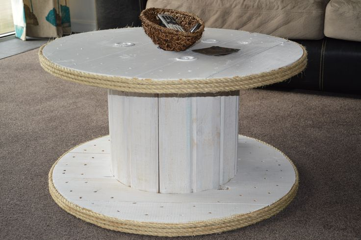 Old cable drum upcycled into our coffee table :)
