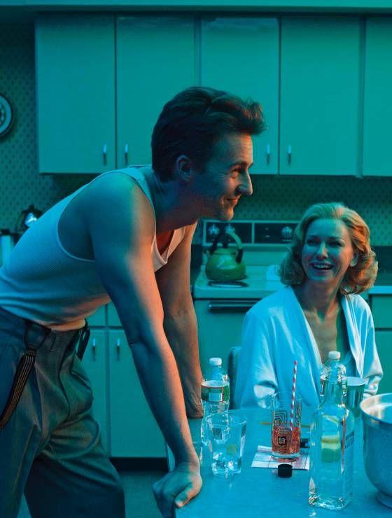 "Edward Norton and Naomi Watts in ""Birdman"" (2014)  Best Picture Oscar 2014"